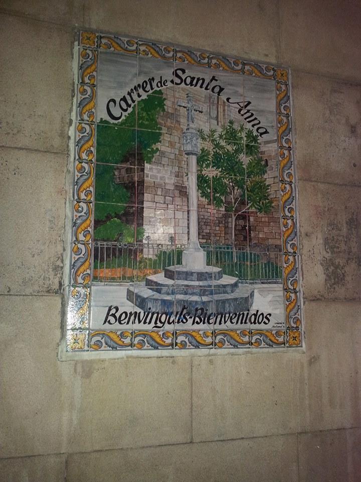 Barcellona_Carrer Santa Anna