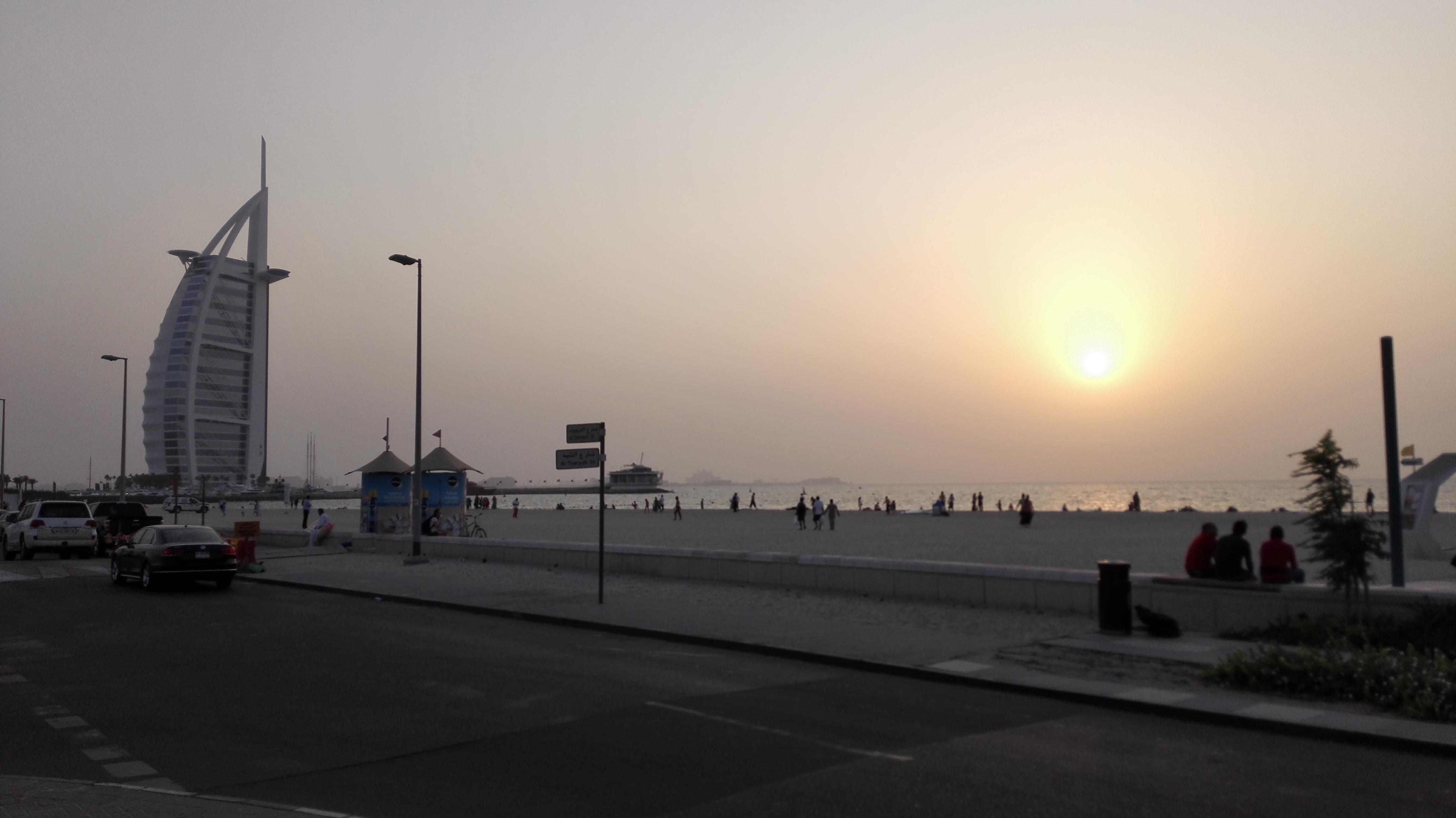 Burj Al Arab_tramonto