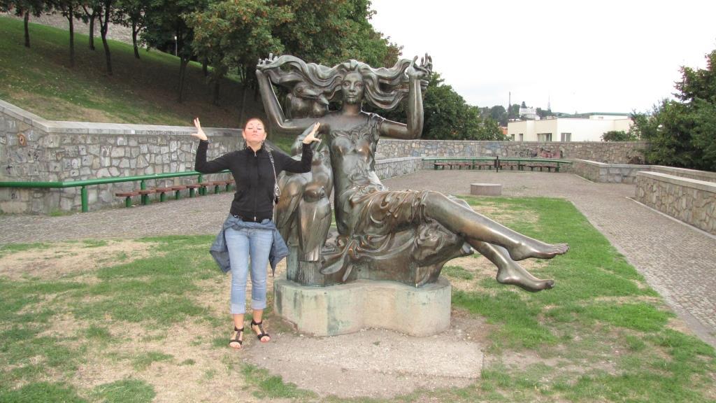Foto con statue 3