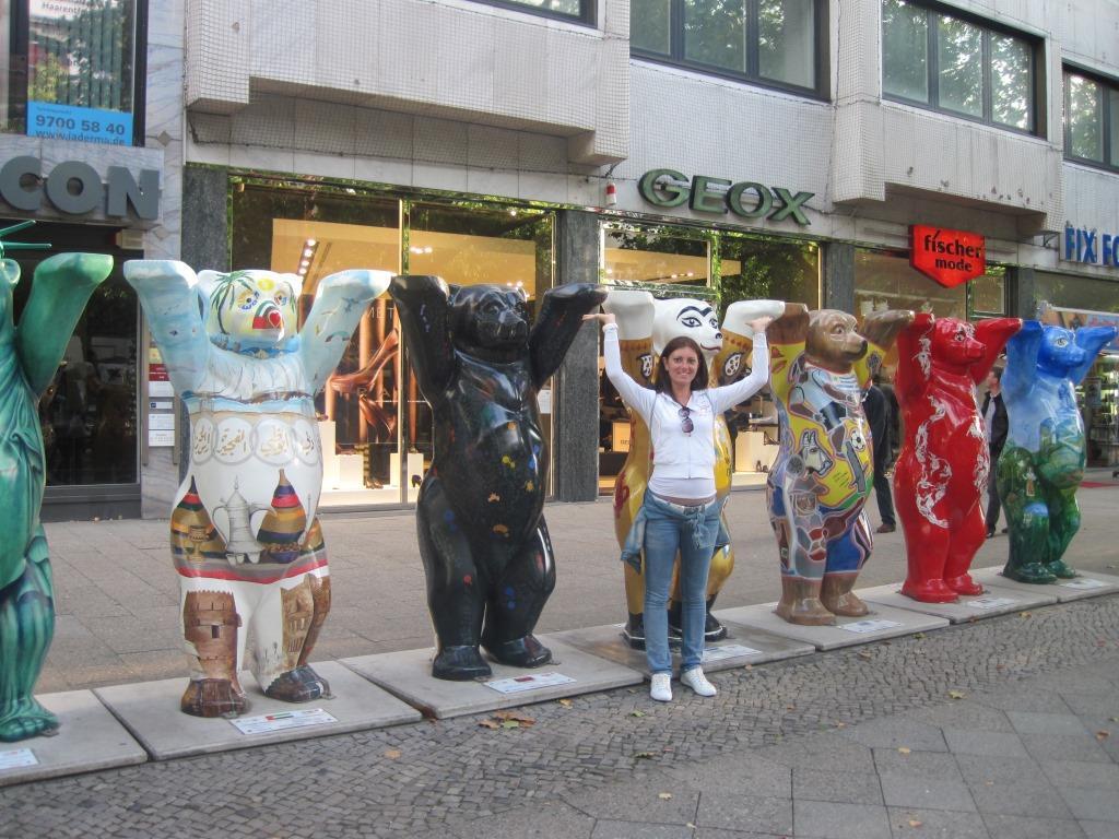 Foto con statue 2