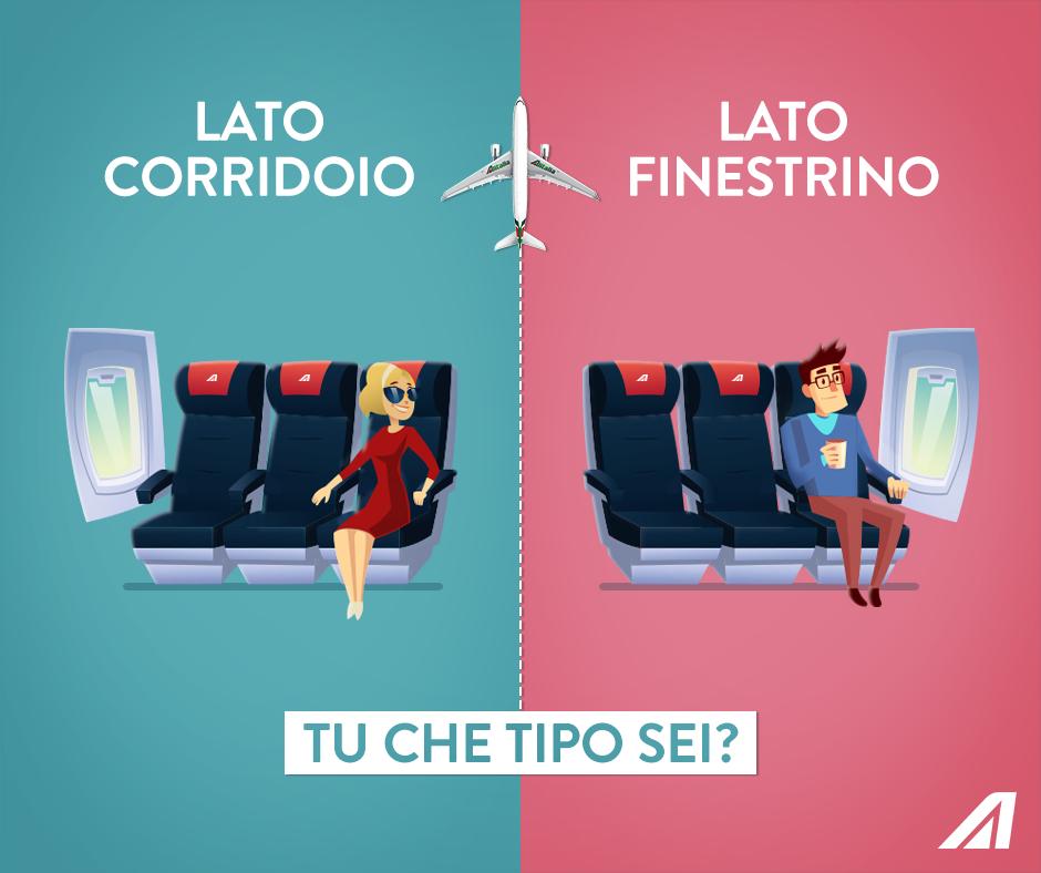 Finestrino o corridoio in aereo